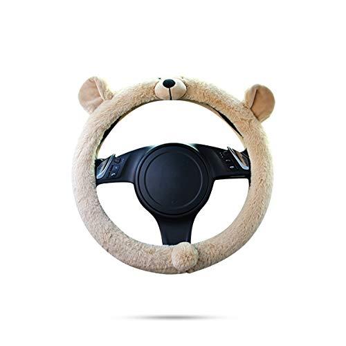 Ergocar Cute Animals Car Steering Wheel Cover Winter Cartoon Non-Slip Car Steering Wheel Protector 38cm(15