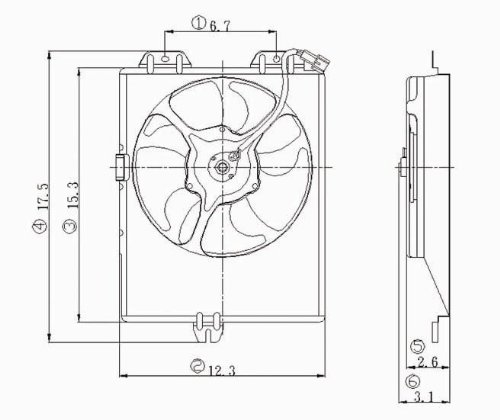 TYC 610520 Mitsubishi Mirage Replacement Condenser Cooling Fan Assembly