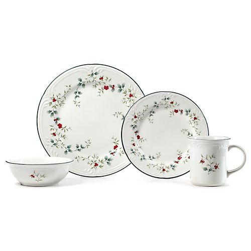 Berries 16 Piece Set (Pfaltzgraff Winterberry 16'pc Dinnerware Set)