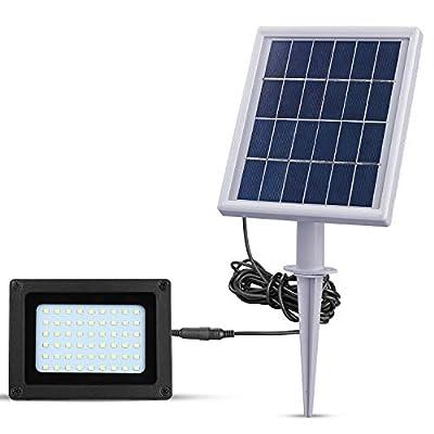 Richarm LED Solar Flood Lights Outdoor Dusk to Dawn Solar Lights 54 LEDs 4000mA Solar Security Lights IP65 Waterproof Solar Spotlights Solar Landscape Lights for Patio Lawn Garden Pathway