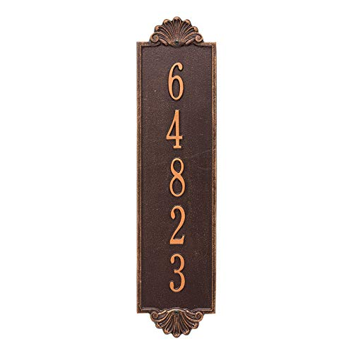 Personalized Shell Vertical Estate Wall Plaque (Antique Copper)