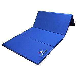 Wacces Pu Leather Gymnastics Gym Fitness Exercise Tumbling/Martial Arts Folding Mat
