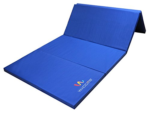 Wacces Pu Leather Gymnastics Gym Fitness Exercise Tumbling/Martial Arts Folding Mat