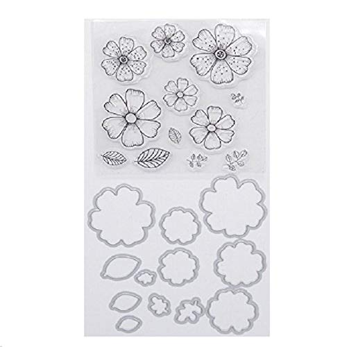 (Welcome to Joyful Home Flower Metal Cutting Dies Stamp Stencils DIY Scrapbooking Photo Album Decor Cards (clear stamp+dies)