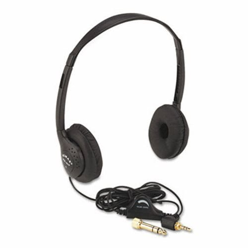 Amplivox Personal Multimedia Stereo Headphones W/Volume Control (6 Units)