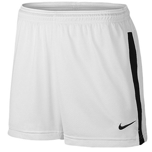 NIKE Womens Contrast Trim Stretch Shorts White XS