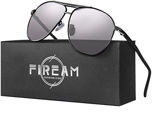 Mens Women Hot Classic Retro Driving Polarized Wayfarer 100% UV400 Protection Rectangle Sunglasses (BlacksliverFrame/GaryLens, - Hot Glasses For Men