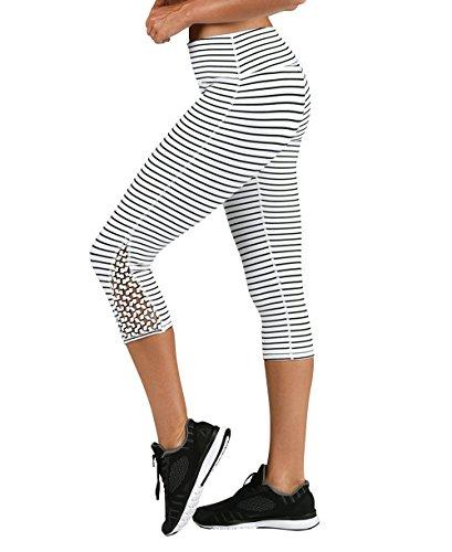 (Glyder Dream Catcher Crop: White/Black Stripe)