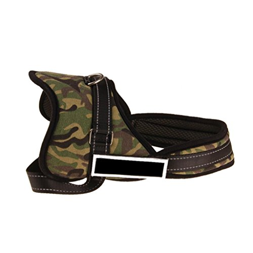 FORESTIME Camouflage Nylon Chest Strap Pet Dog Traction Explosion Proof Adjustable Dog Collar (Camouflage, - Bell Proof Explosion