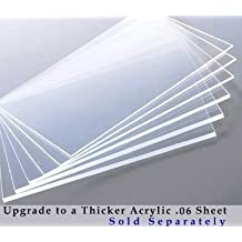 10x13 Inches Single Clear Acrylic Sheet facing for Picture Frame Poster Frame .040