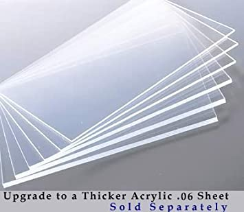 85x11 inches set of 2 clear acrylic sheet facing for picture frame poster frame