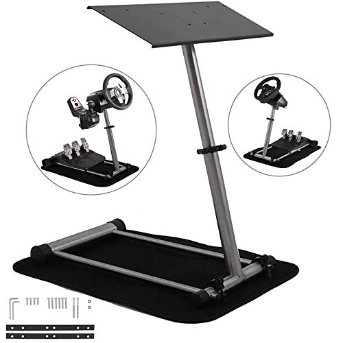 Mophorn Racing Steering Wheel Stand 360 Degree Stepless Adjustable Logitech G25 G27 G29 G920 Thrustmaster Racing Simulator Steering Wheel Stand Frame Video Game Racing Wheel Stand (Adjustable) Best Selling
