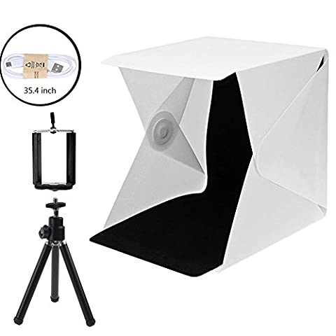 Portable Photo Studio 9.6 inch Photography Light Box Foldable Shooting Tent 2 Colors Background Photo (Photo Product Studio)