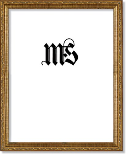 Imperial Frames 11 by 14-Inch/14 by 11-Inch Picture/Photo Frame, Dark Gold with Floral Design