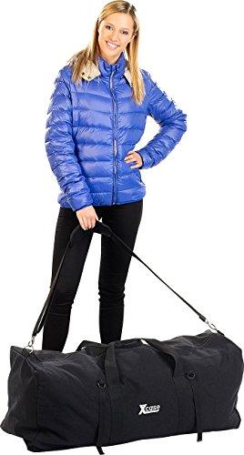 Xcase Taschen: Faltbare XXL-Jumbo-Canvas-Reisetasche mit Schultergurt, 120 Liter (Reise-Taschen)