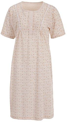 3bdfce6297 Nachthemd in angenehm weicher Single Jersey Qualität mit außergewöhnlichem  Dessin am Dekolletee. Ein feminines Nachthemd, mit optischen Highlights.