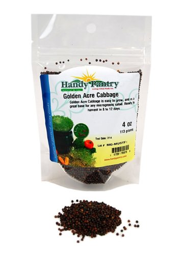 Handy Pantry Golden Acre Cabbage Sprouts Seeds - 4 Oz. Re...