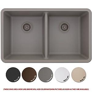 Lexicon Platinum Quartz Composite Kitchen Sink - Large Double Bowl ...
