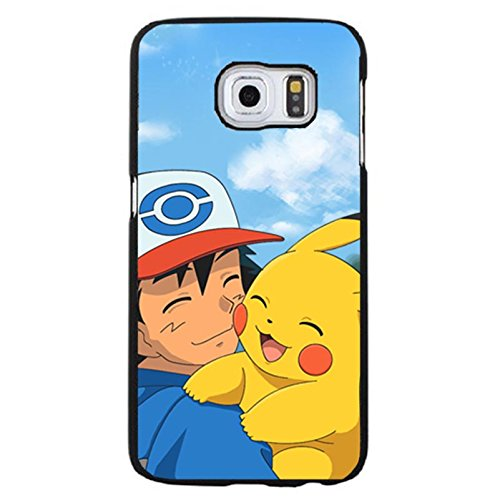 Creative Unique Samsung Galaxy S6 Edge plus Back Cover Case,Pokemon Pattern Phone Case Snap on Samsung Galaxy S6 Edge plus,Pikachu Printed Case