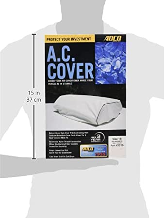 ADCO 3016 White Size 16 RV Air Conditioner Cover