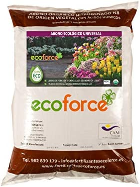 CULTIVERS Abono - Fertilizante Ecológico Universal de 25 Kg para Plantas de Interior y Exterior. Origen 100% Orgánico y Vegano Granulado con NPK 8-1-5 + 74% Materia Orgánica y Ácidos Húmicos: Amazon.es: Jardín
