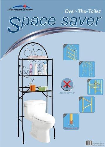 American Dream Bathroom Space Saver - No Tool Installation (Silver) by American Dream