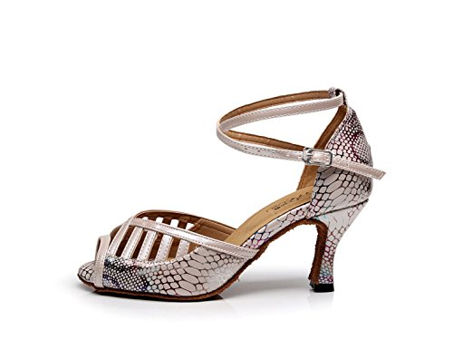 Floral Chaussures PhotoColor Ballroom Indoor 5cm 5 Salsa Talon UK5 Cm Tango Latin Pour Dance 7 5 Our39 EU38 Satin Femmes JSHOE Environ heeled7 xztSwwa