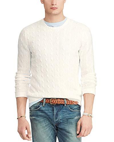 (Ralph Lauren Cable Knit Cashmere Crew Neck Sweater (2XL))