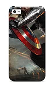 Hot New Arrival Captain America The Winter Soldier Artwork For Iphone 5c Case Cover 1387809K22705676