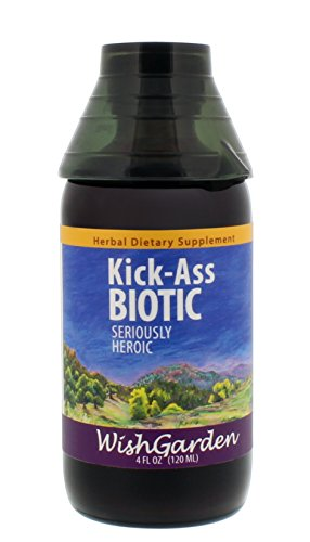 WishGarden Herbs - Kick-Ass Biotic, Organic Herbal Supplement That Supports The Body While Encouraging Natural Immune Response (4 oz - Herbs Wishgarden