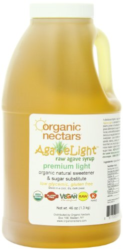 Organic Nectars 100% Raw Premium Agave Light Syrup, 46 Ounce Jugs