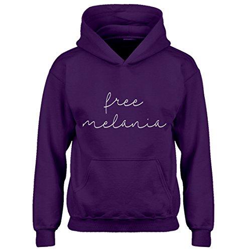 Indica Plateau Kids Hoodie Free Melania Now X-Large Purple Hoodie