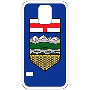 Alberta Flag White Samsung Galaxy S5 Cell Phone Case - Cover