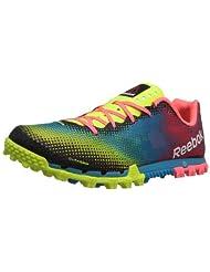 Reebok All Terrain Sprint Womens Running Shoe 10 Yellow-Blue-Pink