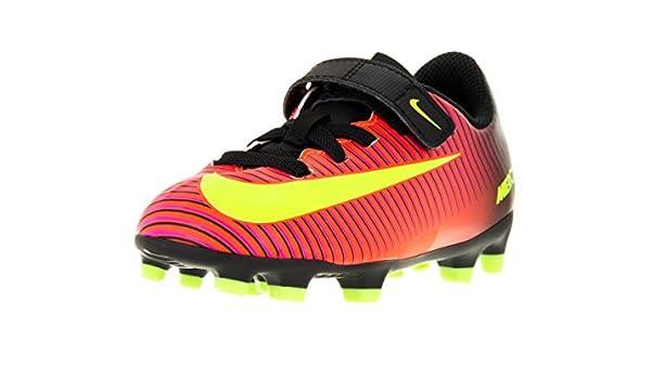 Amazon: Nike Kids Jr Mercurial Vortex III V FG Total Crimson/Vlt/Blk/Pnk  Blst Soccer Cleat 1 Kids US: Shoes