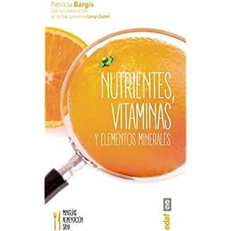 Nutrientes, vitaminas y elementos minerales book jacket