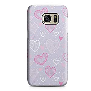 Samsung S7 Case Heart Love Pattern Pattern Great For Girls Durable Metal Inforced Light Weight Samsung S7 Cover Wrap Around 147