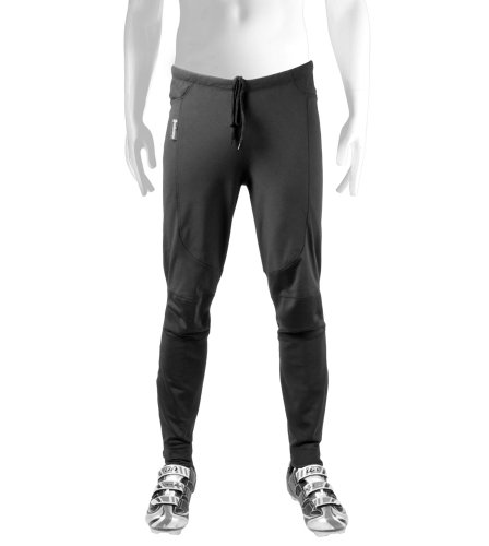 Aero Tech Designs Men's Thermal WindStopper Tights - Softshell Pants for Cold Weather (Medium) Windstopper Fleece Pants