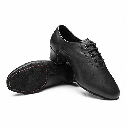 Da uomo Latin Jazz scarpe da ballo fondo morbido nero scarpe ballo moderna scarpe da ballo, Uomo, 6 UK