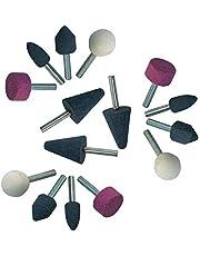 15 delar borrmaskin slipsten slipstift set 6 mm spännskaft kula cylinder kon