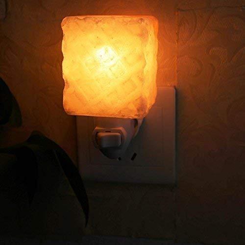 Noulerd Lampada da Parete autoalimentata Square Peapple, 300Gsalthimalayas Underme 6.5  5 cm Lampada Crystalsalt rosaanniversary Night Light Select,6.5  5cm