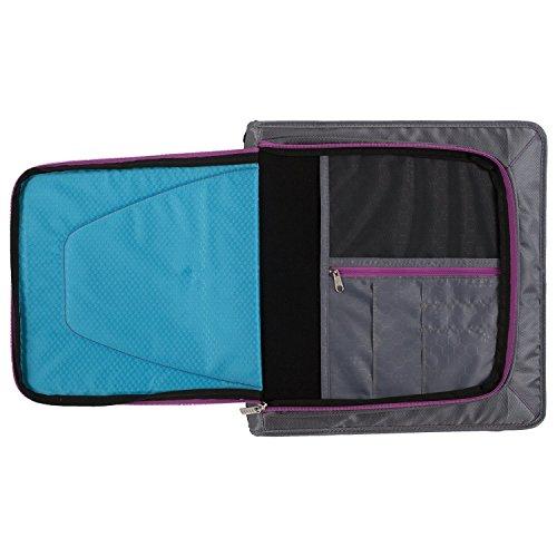 """Five Star Zipper Binder + Tech Pocket, 2"""", Teal / Gray, 12"""