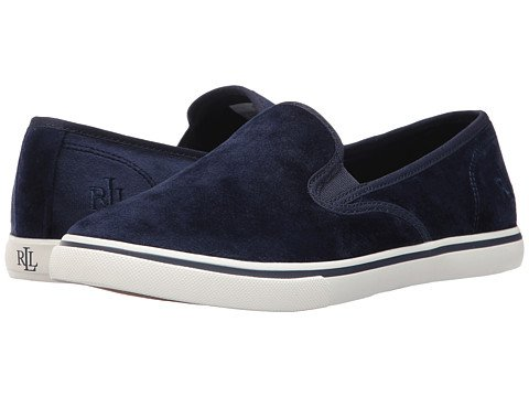 (ローレンラルフローレン) LAUREN Ralph Lauren レディースウォーキングシューズ?カジュアルスニーカー?靴 Janis-SK-V Navy Velvet 8.5 25.5cm B - Medium [並行輸入品]