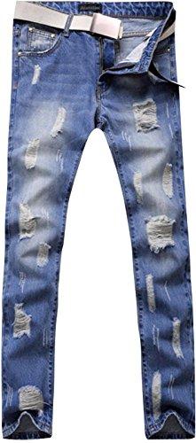 Jeansian Uomo Denim Moda Casual Mjb066 Pantaloni lightblue Uomini Jeans Sottile Stampa Tendenze trYtfqwg