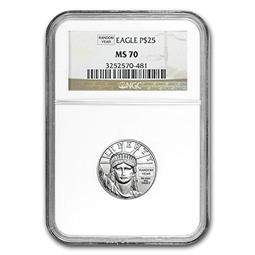 1997   Present 1 4 Oz Platinum American Eagle Ms 70 Ngc  Random Year  Issue Ms 70 Ngc