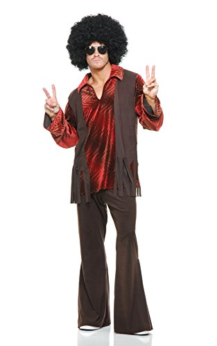 Charades Men's Haight Ashbury Hippie Costume, As Shown, X-Small]()