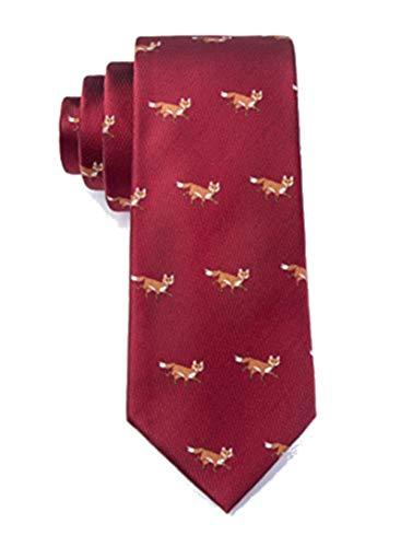 - Men's Burgundy Red Prowling Foxes Fox Tie Necktie