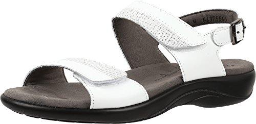 (SAS Women's, Nudu Low Heel Sandals White 8 M)