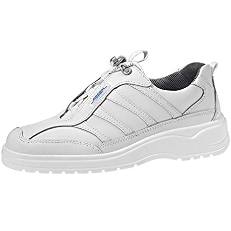 Abeba EN Zapatos de Trabajo 1151 bacteriostático Antiestático de Cuero Blanco de Cocina Ideal E EN ISO 20347:2012 O2 Fo Sra Blanco Blanco Talla:48 zmjWTwS6d