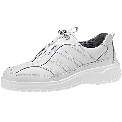 Abeba EN zapatos de trabajo 1151 bacteriostático antiestático de cuero blanco de cocina ideal E EN ISO 20347:2012 O2 FO SRA Blanco - blanco